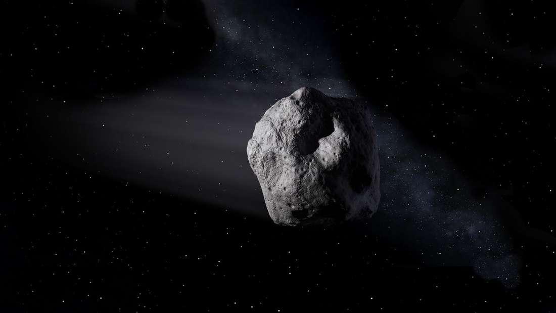 Asteroiden können der Erde gefährlich werden - doch es gibt keinen Grund für Panik. (Künstlerische Darstellung)