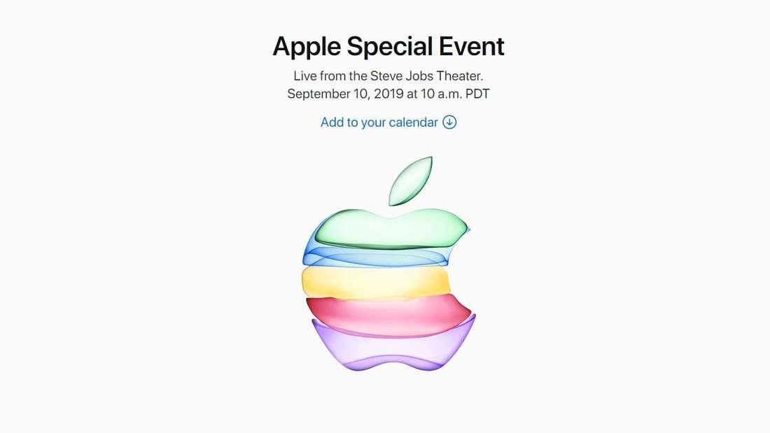 Mit diesem Logo kündigt Apple die Keynote im September 2019 an.