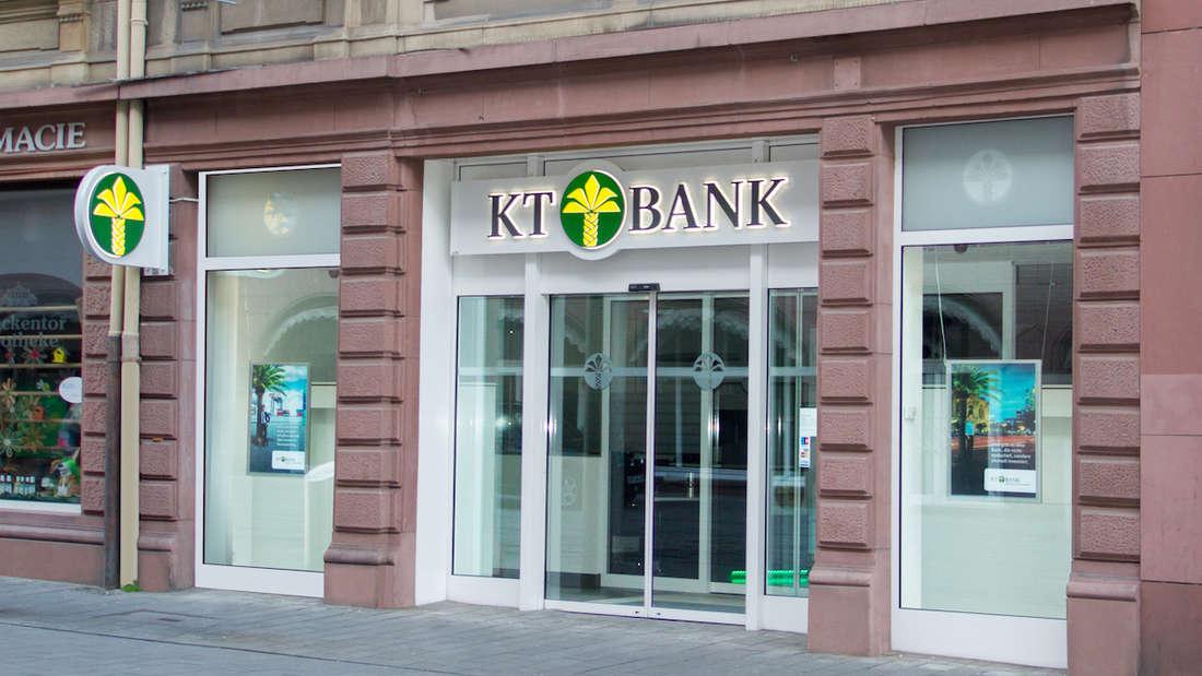 Geld sicher anlegen – Filiale der KT Bank AG in Mannheim