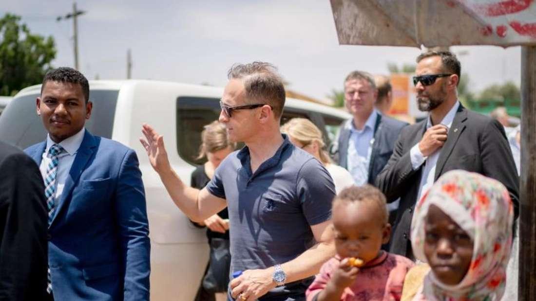 Außenminister Heiko Maas am Dienstag in der sudanesischen Hauptstadt Khartum.Foto: Kay Nietfeld