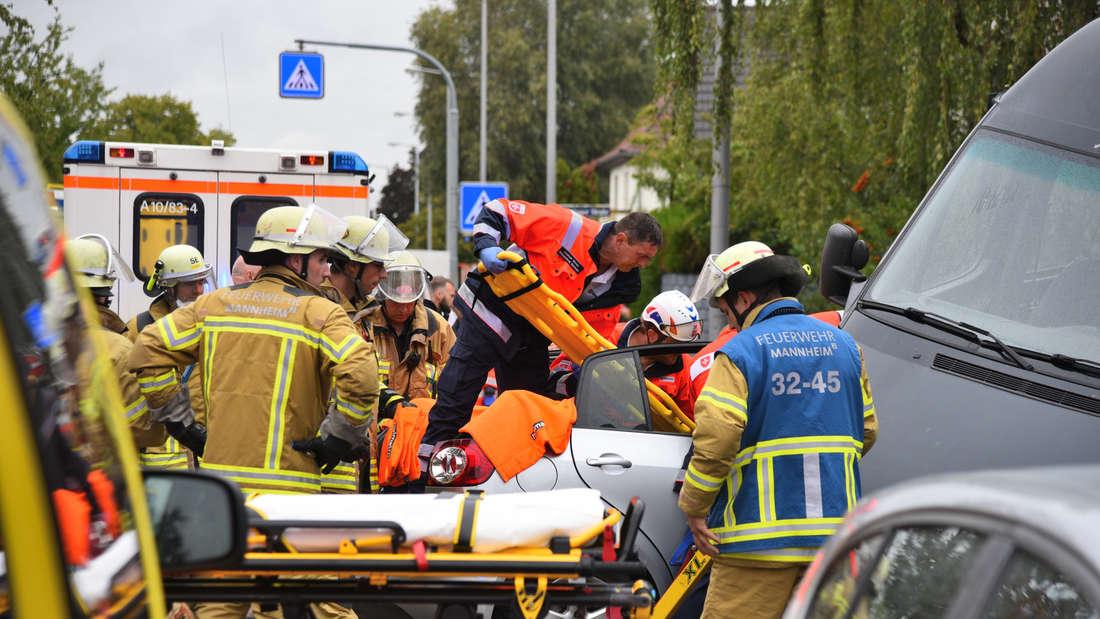 Die Unfallstelle in Seckenheim am Samstag