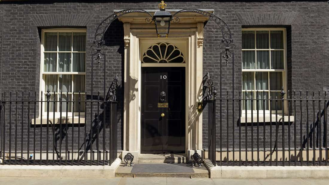 England: 10 Downing Street in der Adam Street.