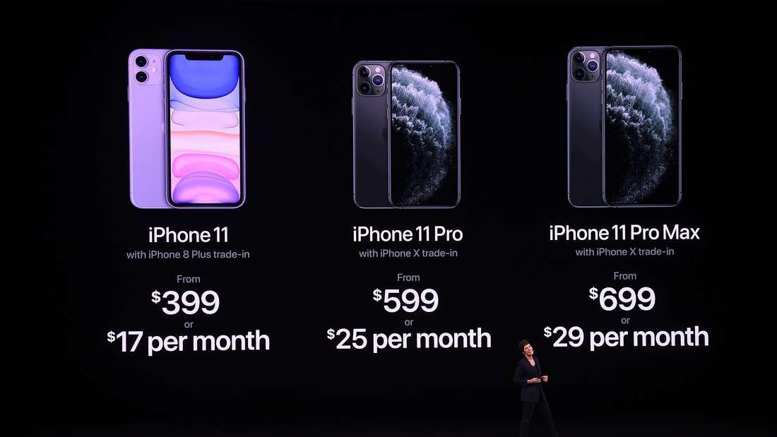 Apple brachte drei neue iPhone-Modelle auf den Markt.