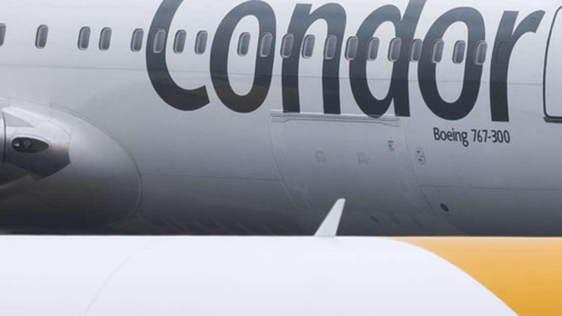 Insolvenz Thomas Cook - Tochter Condor am Flughafen Frankfurt.