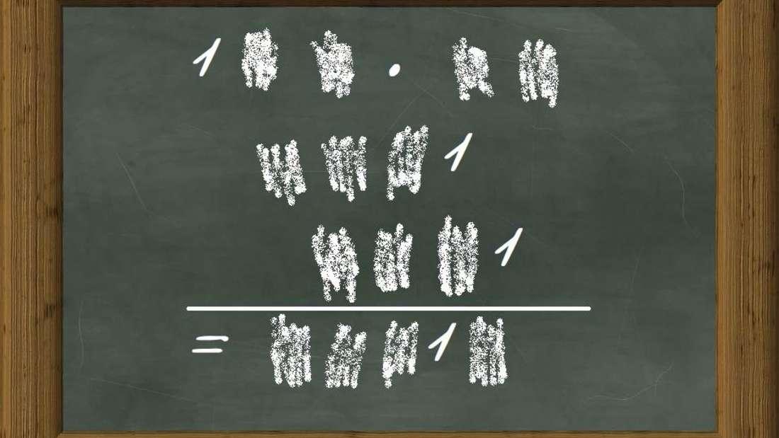 Nur noch vier Einser sind von der Mathe-Aufgabe zu sehen - wissen Sie dennoch, wie sie lautet?