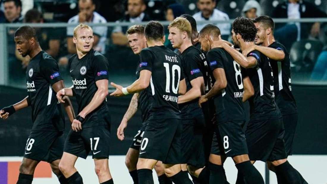 Eintracht Frankfurt gewann 1:0 in Guimarães. Foto: Uwe Anspach/dpa