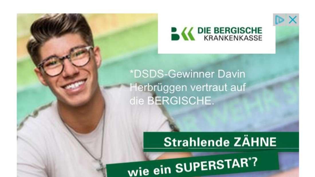 In Online-Artikel taucht gerade die Werbung mitDSDS-Gewinner Davin Herbrüggen auf.