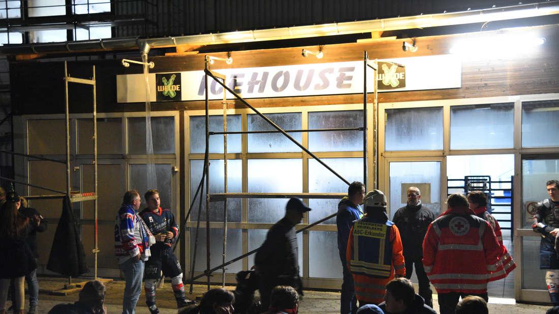 Evakuierung bei Eishockeyspiel in Eppelheim
