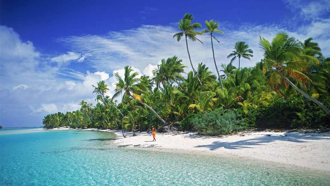 Eine einsame Insel im Pazifischen Ozean -eine romantische Vorstellung.(Symbolbild)