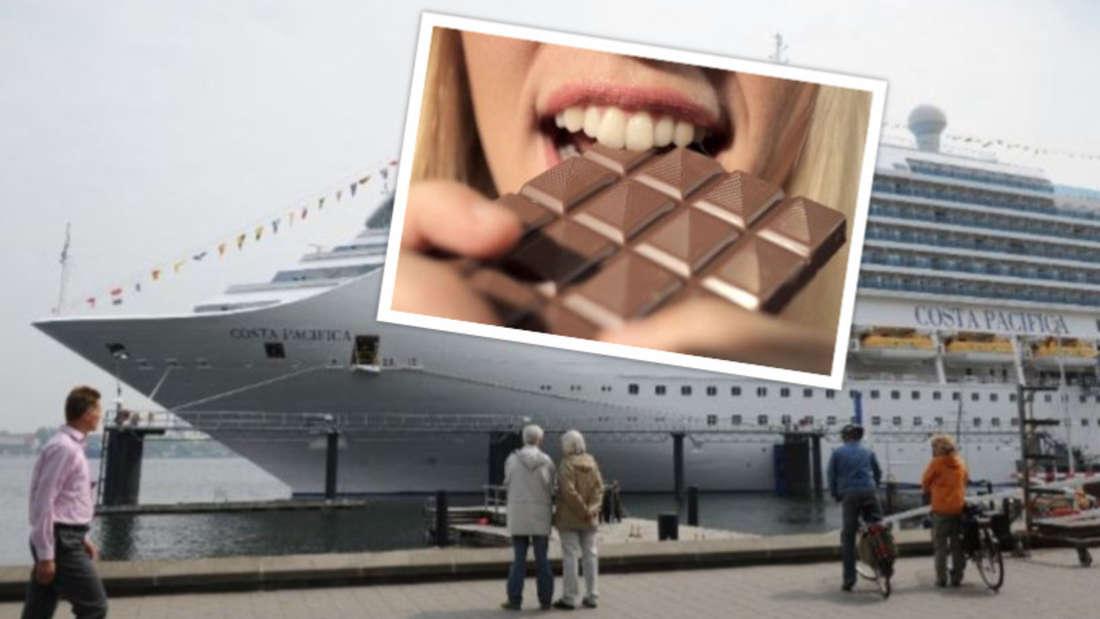 An Bord der Costa Pacifica gibt es eine Woche lang alles zum Thema Schokolade zu erleben.