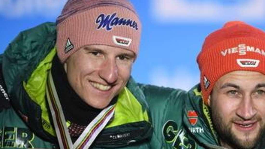 Skispringen: Markus Eisenbichler (rechts) und Karl Geiger waren die erfolgreichsten deutschen Skispringer in der vergangenen Saison.
