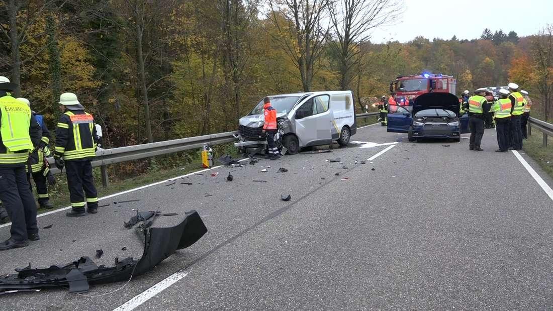 Schwerer Unfall auf der B293 bei Bauerbach