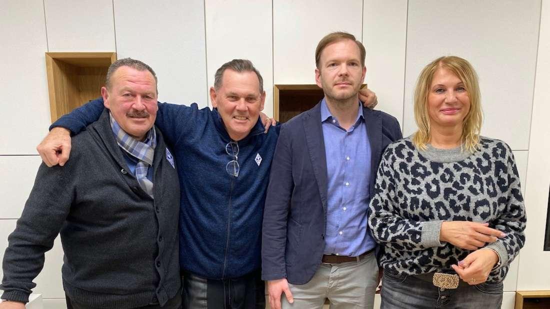 (v.l.n.r.) Das Präsidium des SV Waldhof Mannheim: Horst Seyfferle, Bernd Beetz, Tobias Schmidt und Birgit Loewer-Hirsch.