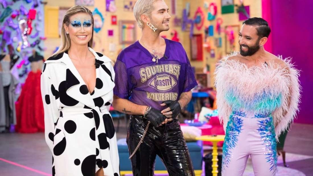 """Heidi Klum sucht zusammen mit Bill Kaulitz und Conchita Wurst die """"Queen of Drags""""."""