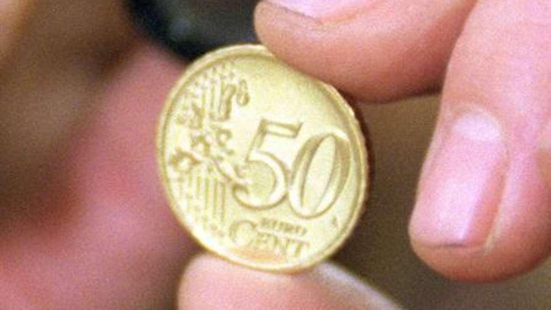 Schauen Sie sich die Rückseite Ihrer 50-Cent-Münze mal genauer an - vielleicht ist sie eine Fehlprägung? (Symbolbild)