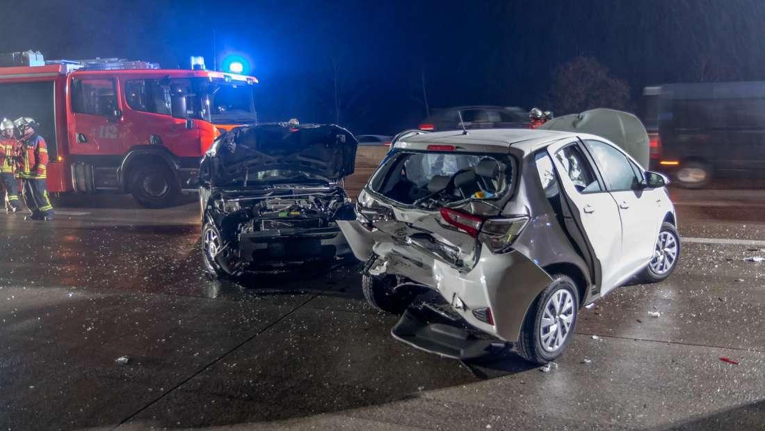 Schwerer Unfall auf der A5 bei Karlsruhe