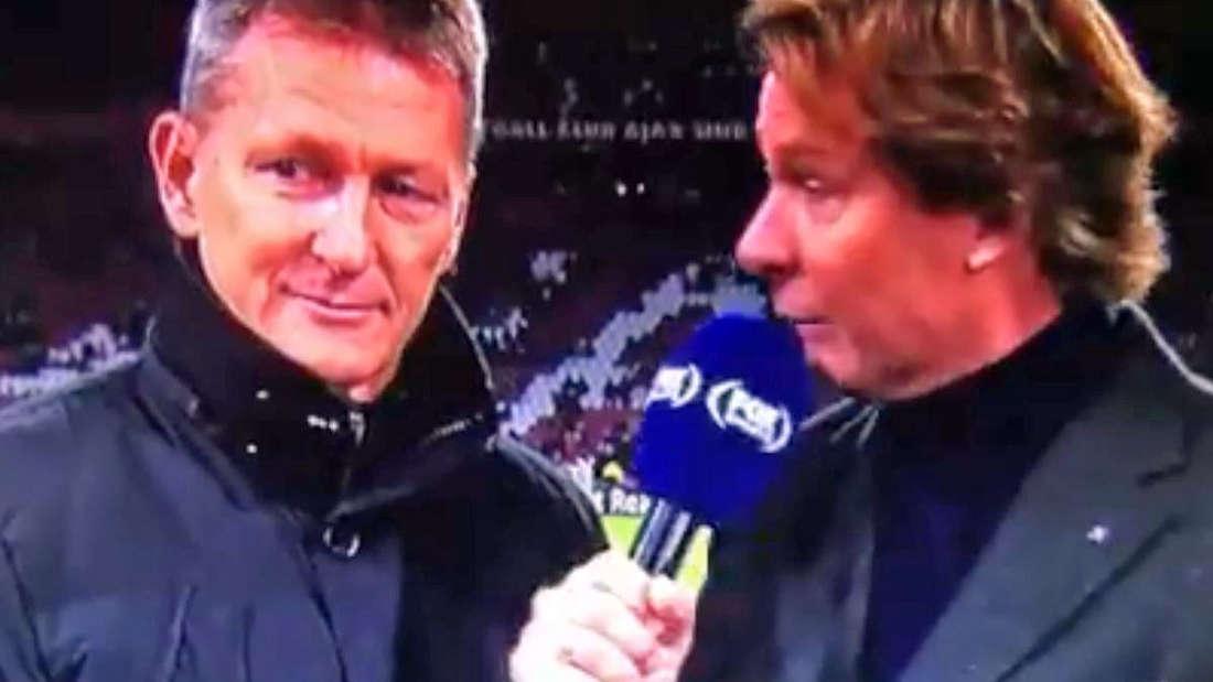 """Der deutsche Trainer Frank Wortmuth in einem Interview von""""Fox Sports"""" vor dem Spiel gegen Ajax."""
