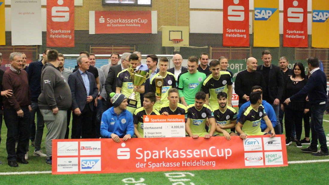 Der FC-Astoria Walldorf gewinnt den SparkassenCup 2020.