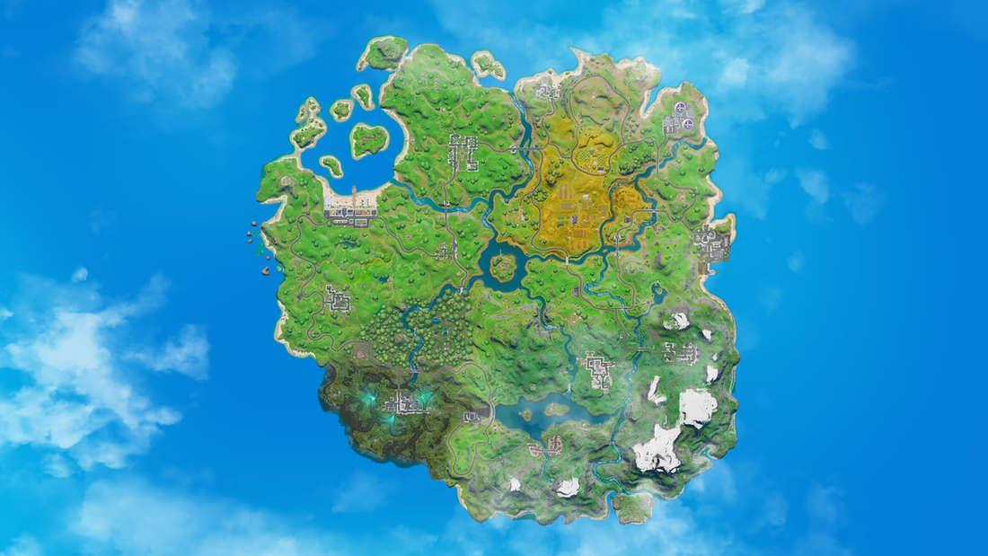"""Bei """"Fortnite"""" zieht ein Sturm über die Karte und nur die sicheren Zonen bieten Schutz."""