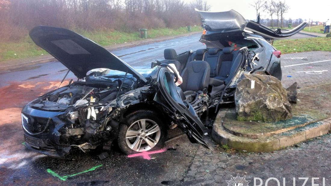 Die Unfallstelle an der A63 am Dienstag