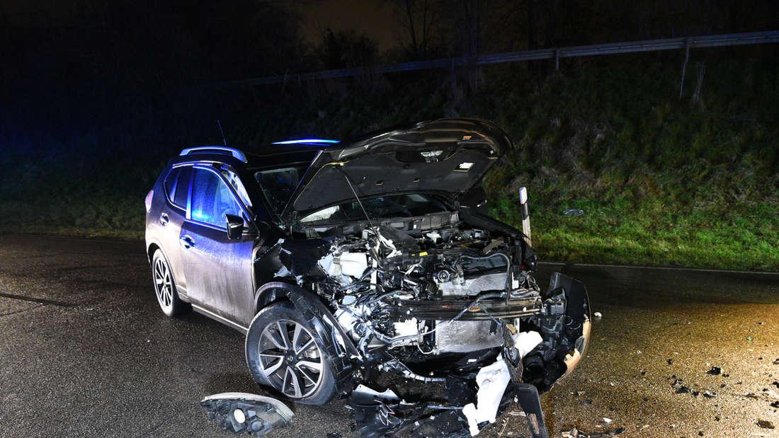Die Unfallstelle in der Banater Straße am Mittwochabend
