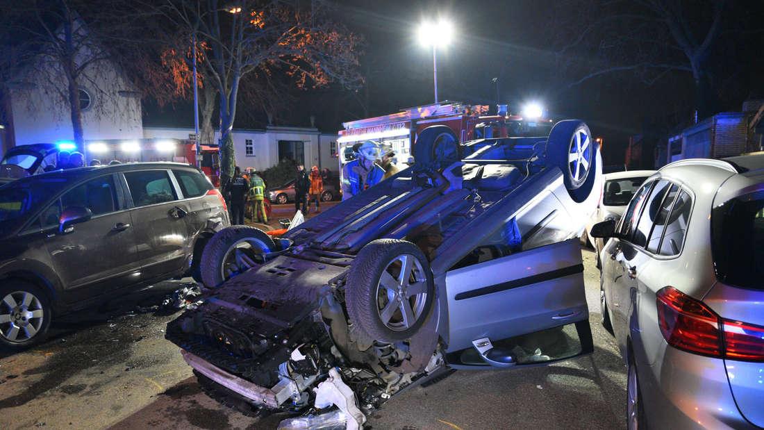 Bei einem Unfall in Mannheim-Feudenheim wird ein Mann schwer verletzt.