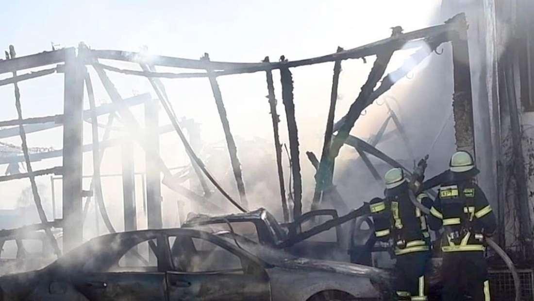 Großbrand in Bobstadt