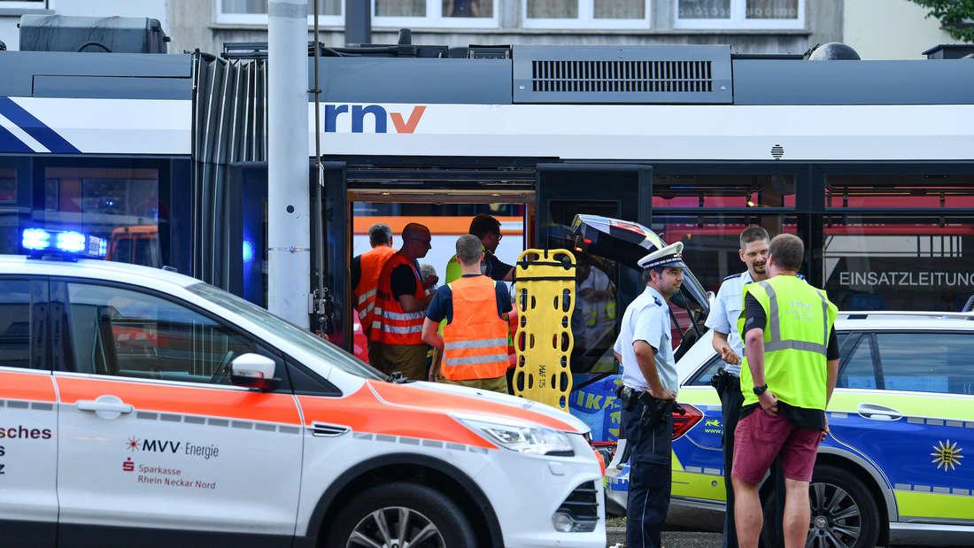 Straflenbahnunfall in Mannheim
