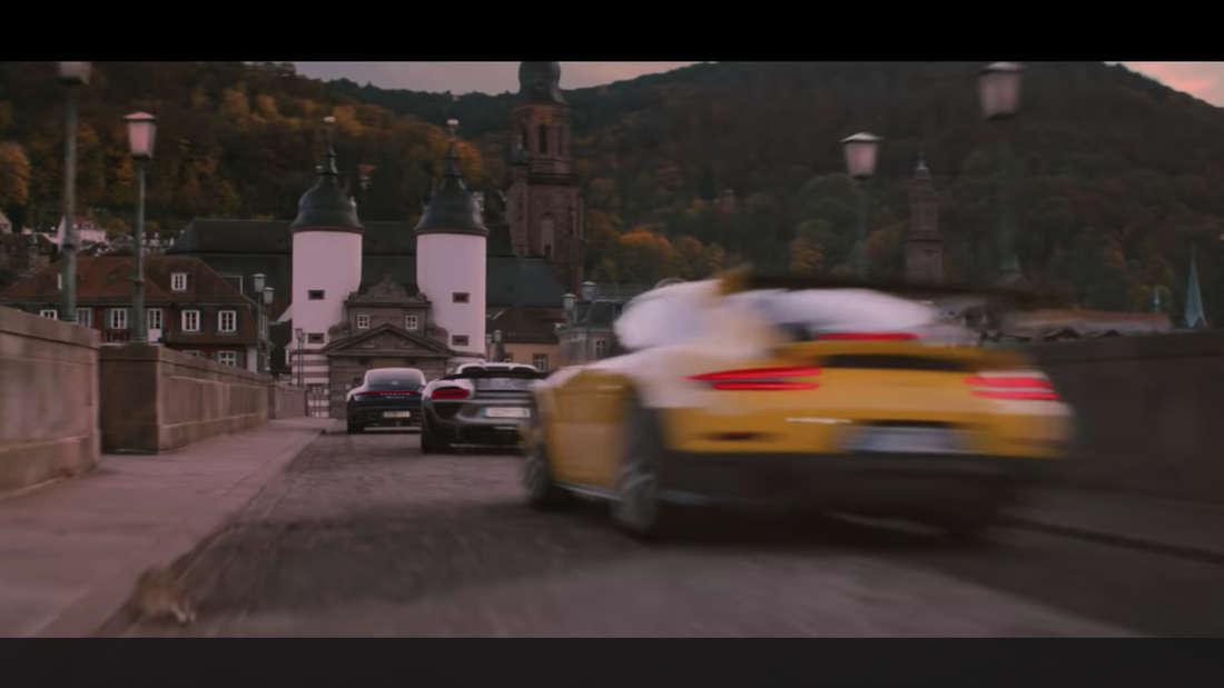 Der neue Werbespot von Porsche wurde auch in Heidelberg und Heppenheim gedreht.