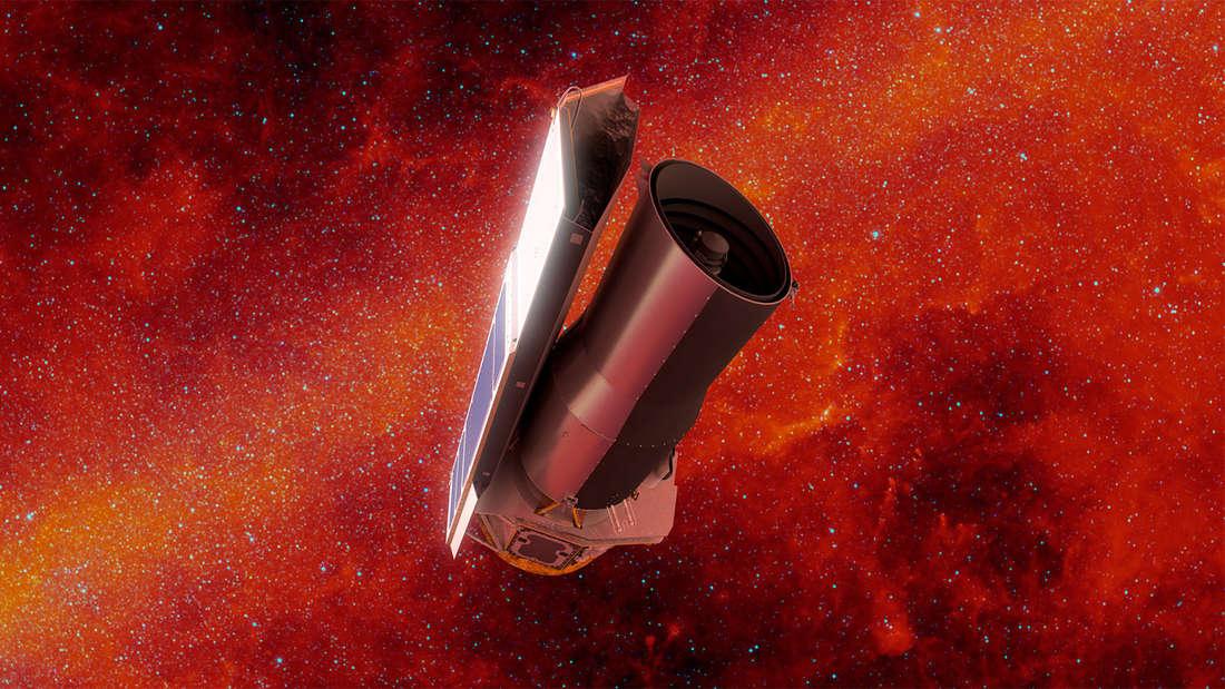 """Das Weltraumteleskop""""Spitzer"""" der Nasa hat fast 17 Jahre durchgehalten. (künstlerische Darstellung)"""