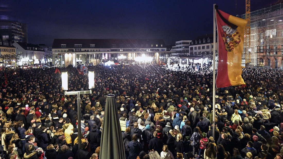 Mahnwache nach dem Terror in Hanau