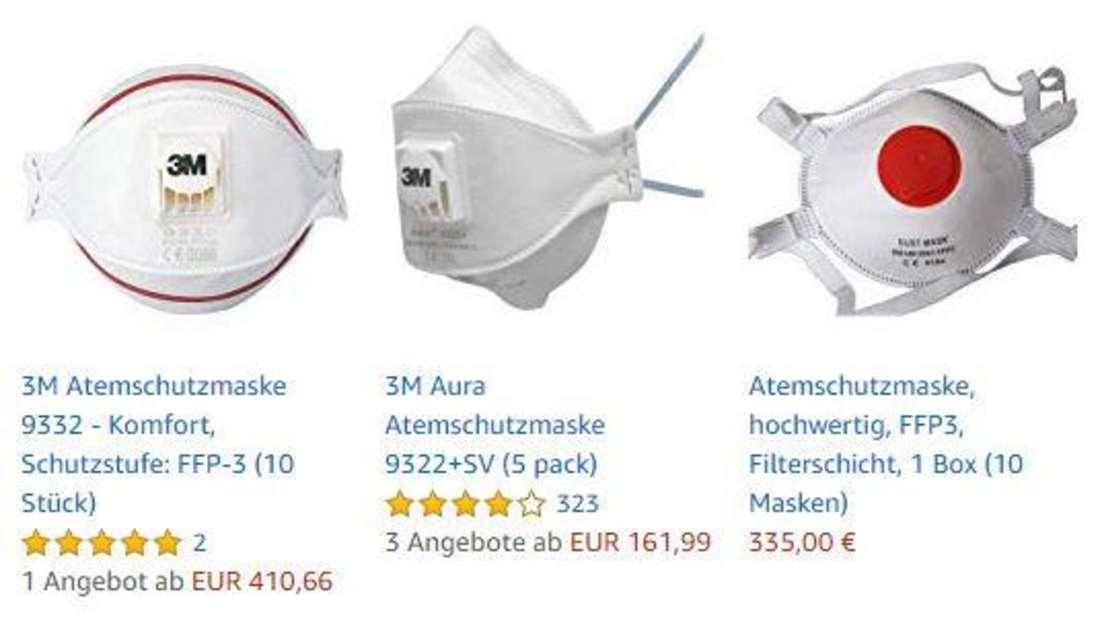 Coronavirus: Wucherpreise für Atemschutzmasken