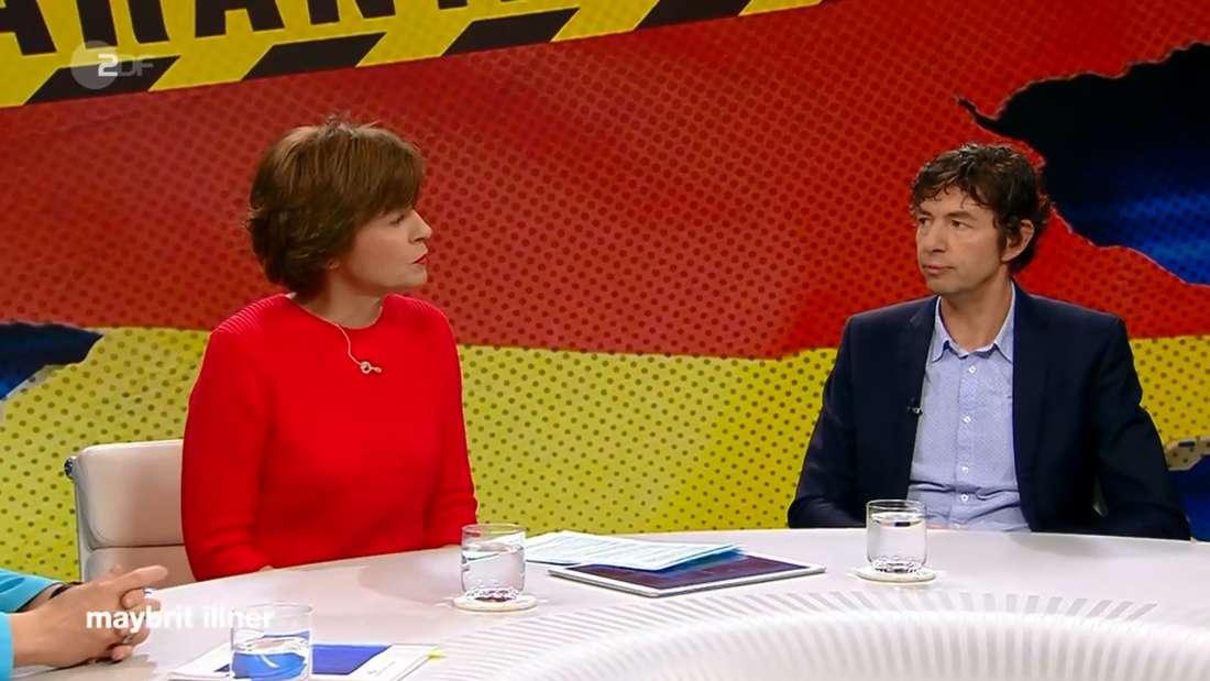 Virologe Christian Drosten (Charité Berlin) zu Gast bei Maybrit Illner (ZDF)