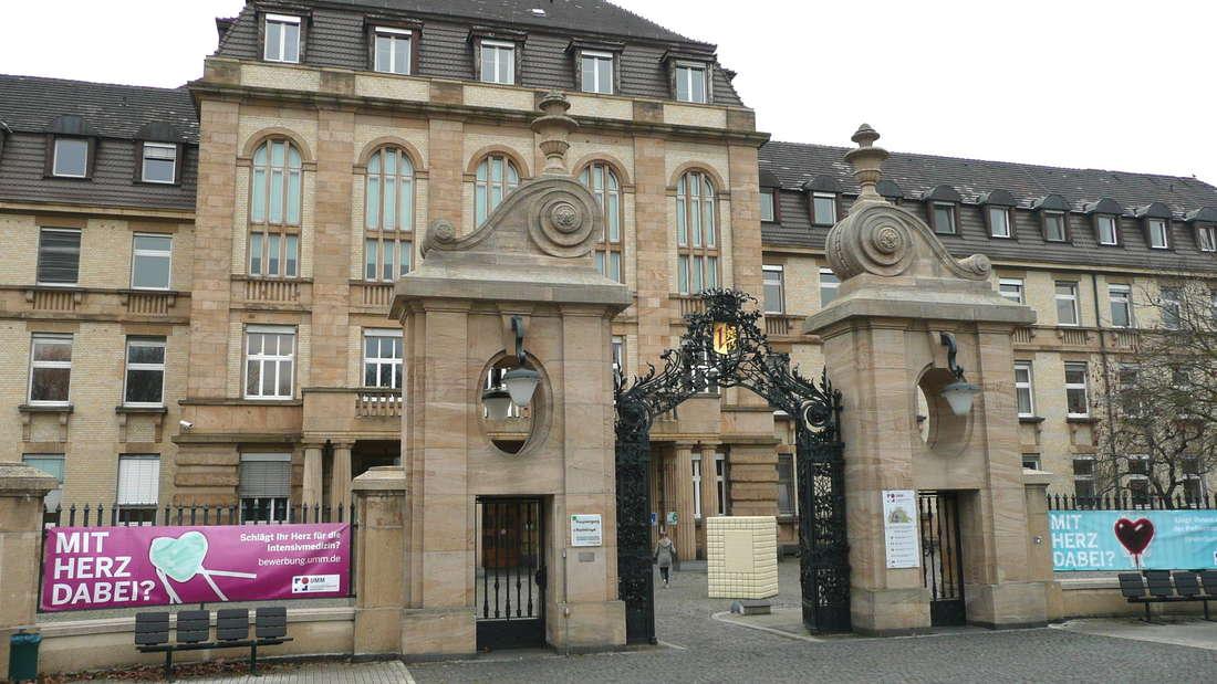 Besuchsverbot am Uniklinikum Mannheim während der Corona-Pandemie.