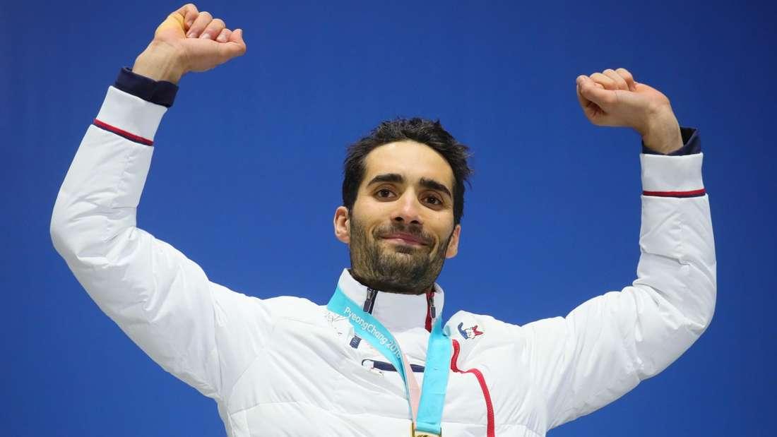 Bei den Olympischen Spielen in Pyeongchang gewann Martin Fourcade drei Goldmedaillen.