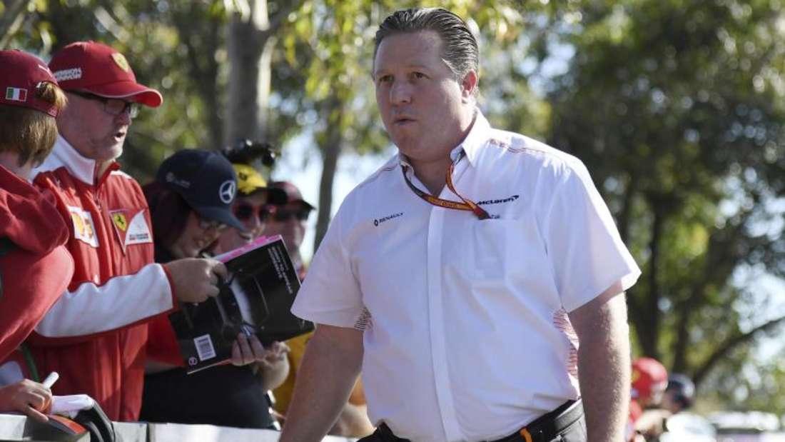 Zak Brown ist der Chef des Motorsport-Projekts bei McLaren. Foto: Andy Brownbill/AP/dpa