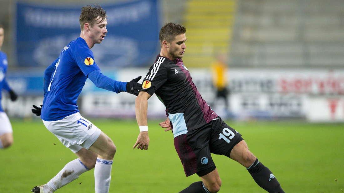 Rurik Gislason (r.) ist mit dem FC Kopenhagen dänischer Meister und Pokalsieger geworden.