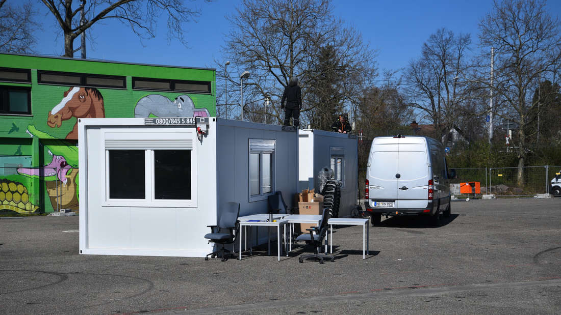 In Heidelberg-Kirchheim entsteht ein neues Coronavirus-Testcenter.
