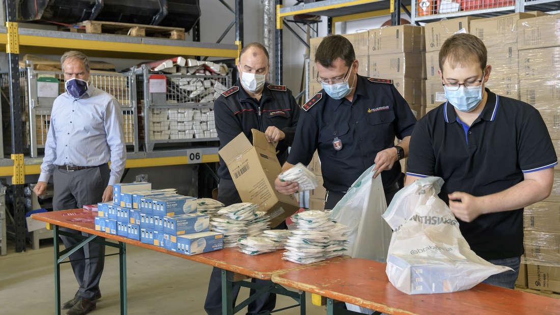 Stadt richtet Verteilzentrum für Schutzmaterial im Gesundheitssektor ein