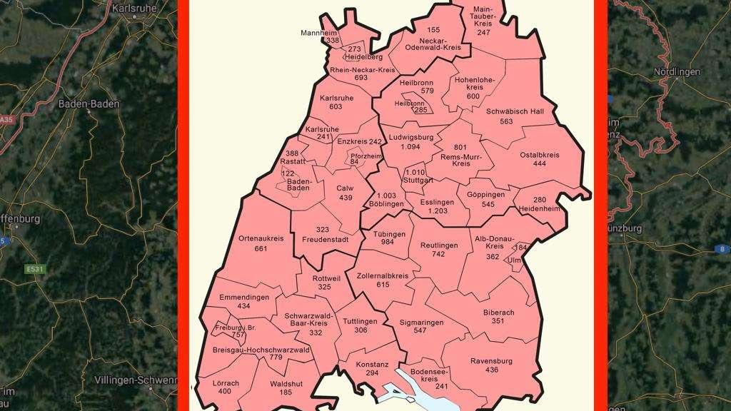 Infizierte Baden Württemberg