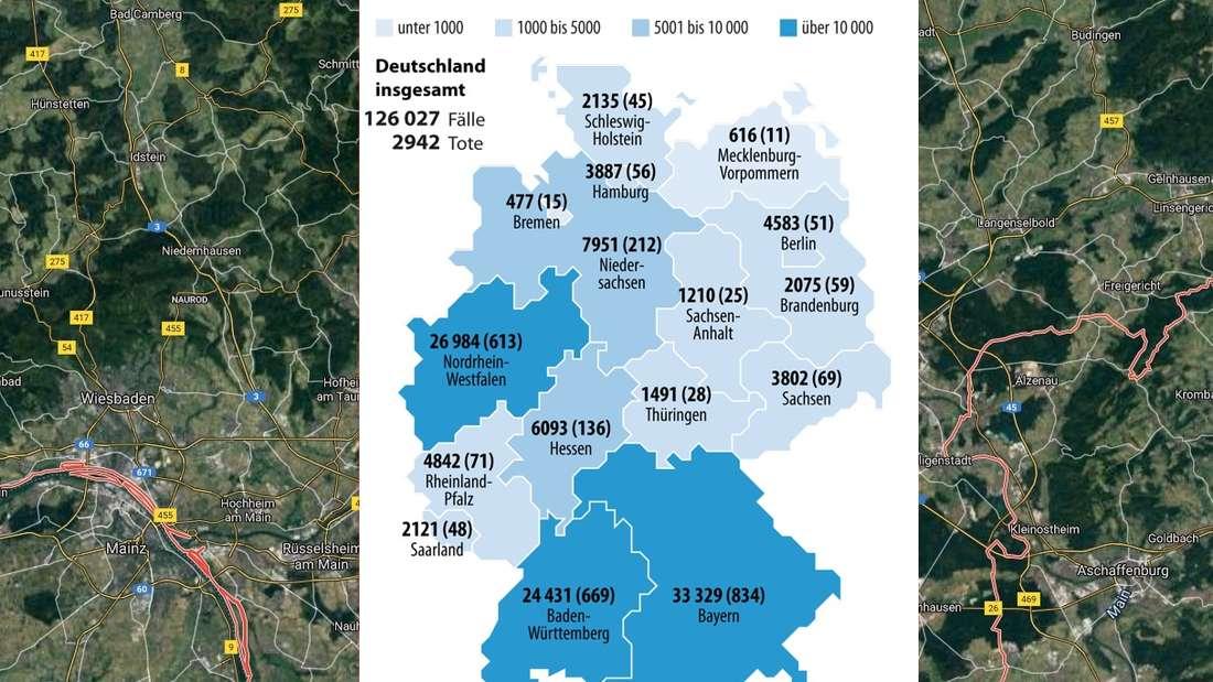 Die Ausbreitung des Coronavirus in Hessen und Deutschland (Stand 13. April)