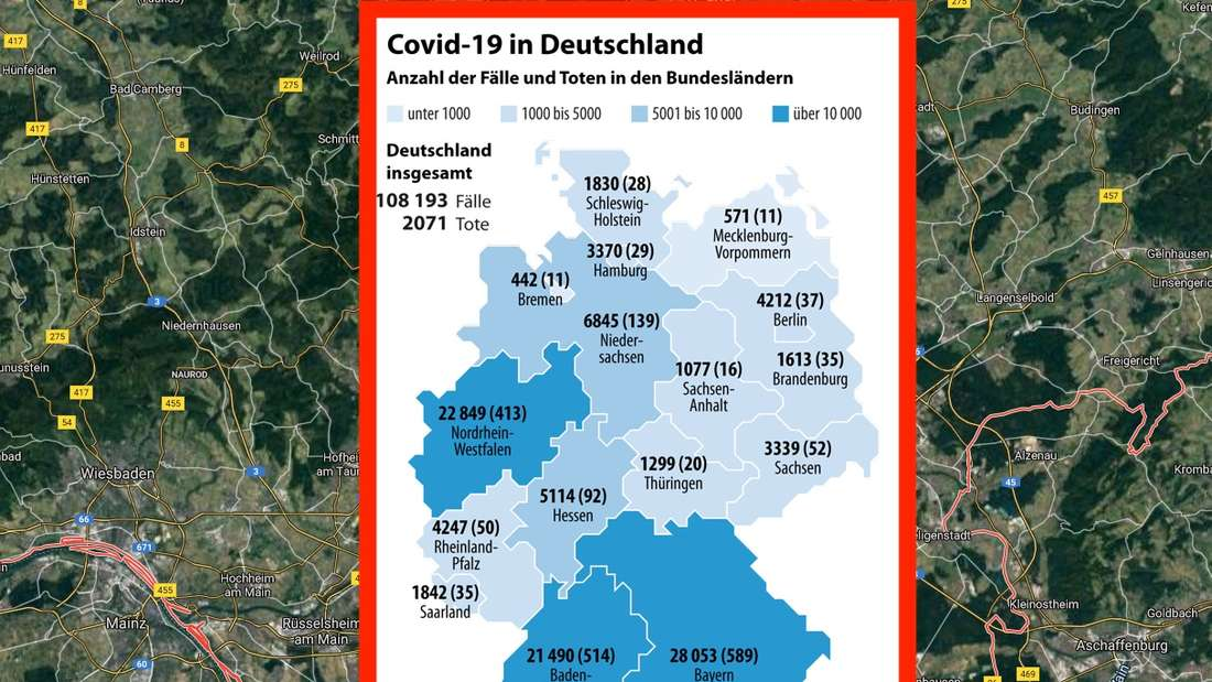 Die Ausbreitung des Coronavirus in Deutschland (Stand 9. April, 13 Uhr)