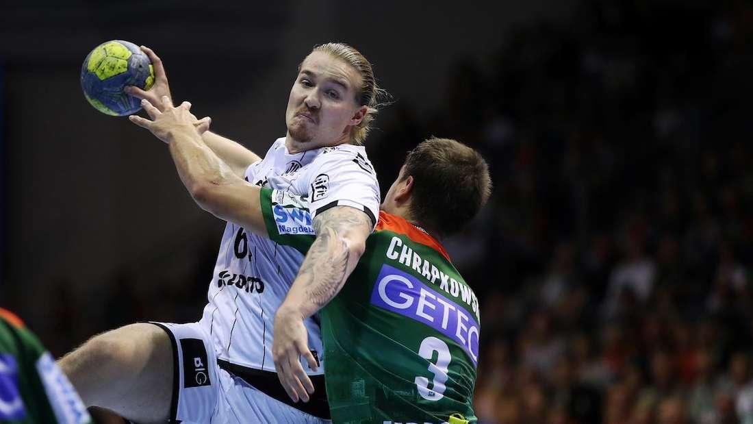 Lukas Nilsson (l.) steht vor einem Wechsel zu den Rhein-Neckar Löwen.