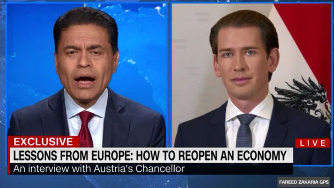 Sebastian Kurz im CNN-Interview.
