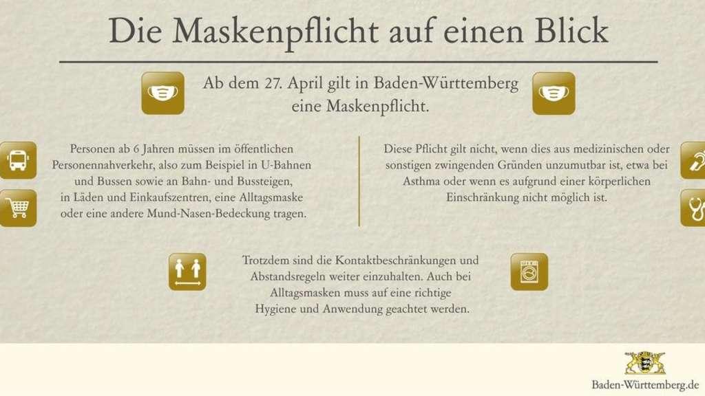 Baden Württemberg Corona Maskenpflicht