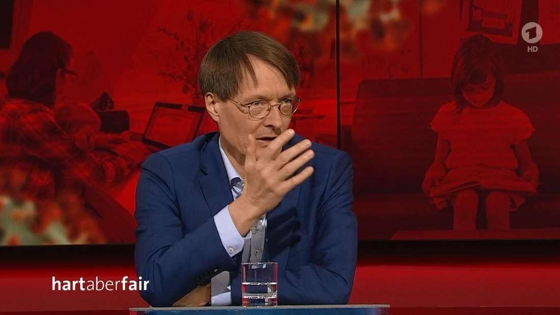"""Karl Lauterbach (SPD) zu Gast bei""""hart aber fair"""" mit Frank Plasberg"""