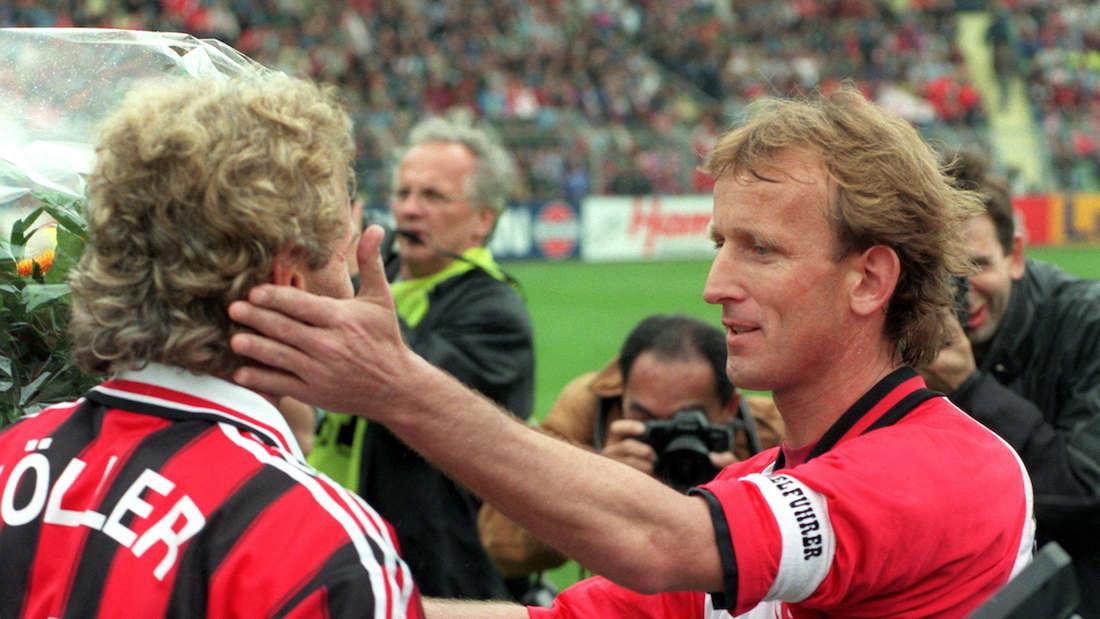 Abstiegsfinale 1996 - Brehme und Völler