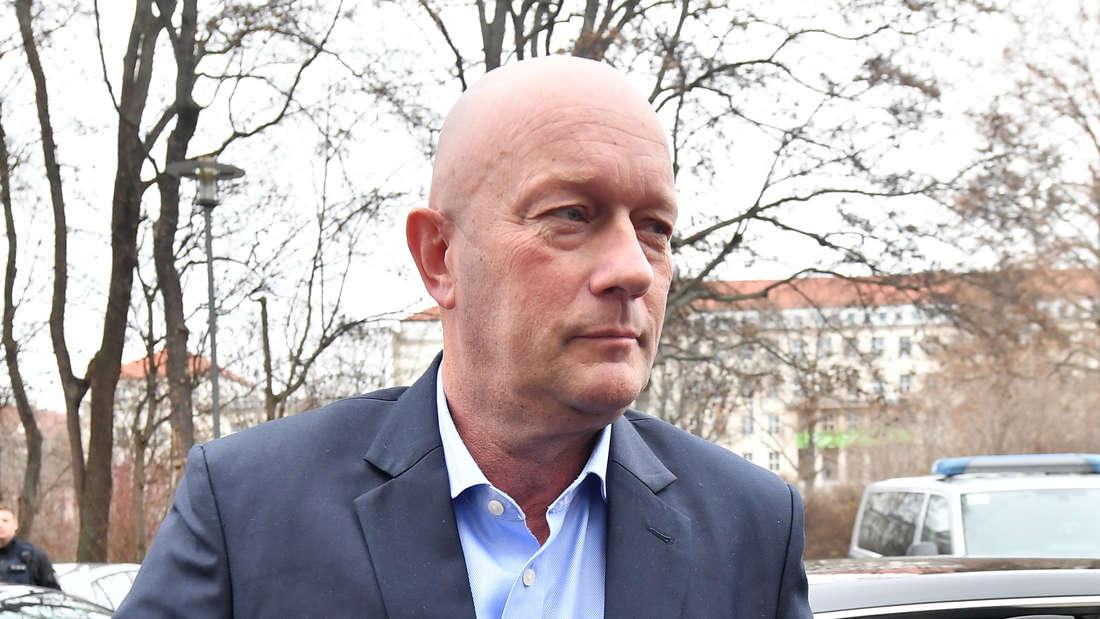 Thomas Kemmerich nach der Ministerpräsidentenwahl in Thüringen im Februar