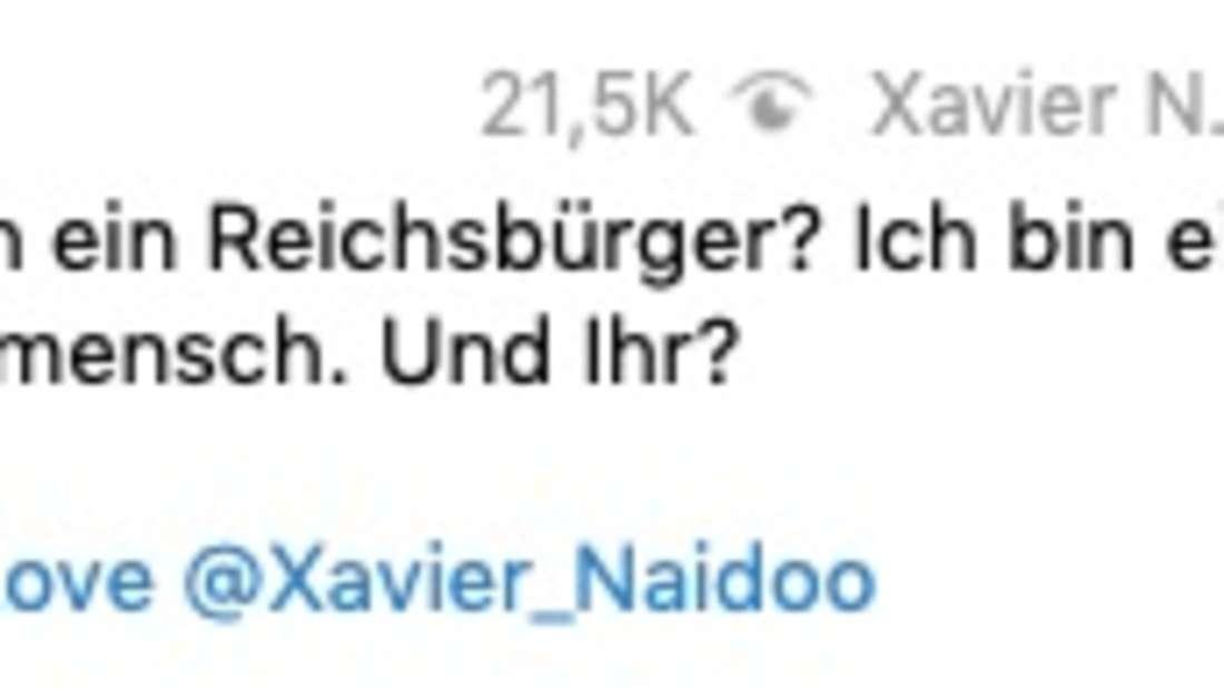 Xavier Naidoo äußert sich zu den Vorwürfen ein Reichsbürger zu sein.