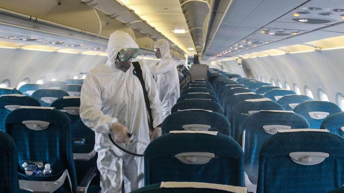 Airlines setzen in ihren Flugzeugen strenge Hygienemaßnahmen um.